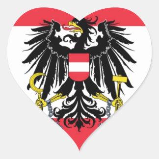 Flag of Austria - Flagge Österreichs Heart Sticker