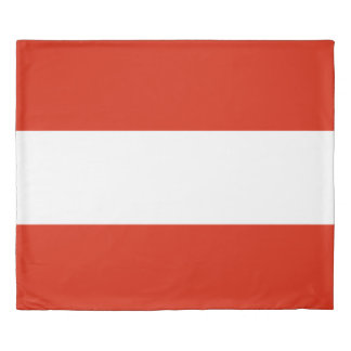 Flag of Austria king size Duvet Cover