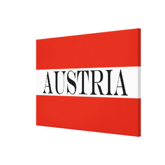 Flag of Austria large Canvas Print