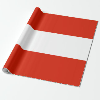 Flag of Austria Wrapping Paper