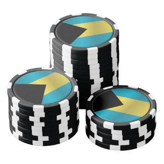 Flag of Bahamas Poker Chips