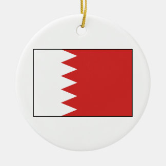Flag of Bahrain Round Ceramic Ornament