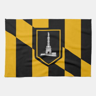 Flag of Baltimore, Maryland Kitchen Towel