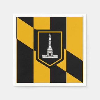 Flag of Baltimore, Maryland Paper Napkins