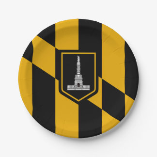 Flag of Baltimore, Maryland Paper Plate