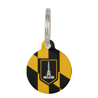 Flag of Baltimore, Maryland Pet Tag