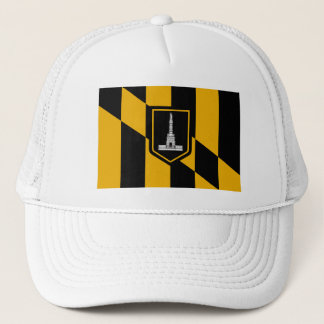 Flag of Baltimore, Maryland Trucker Hat