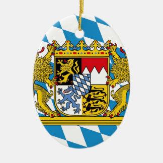 Flag OF Bavaria Ceramic Oval Ornament