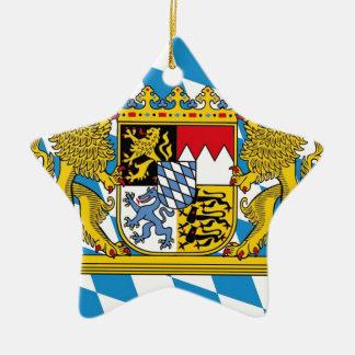 Flag OF Bavaria Ceramic Star Ornament
