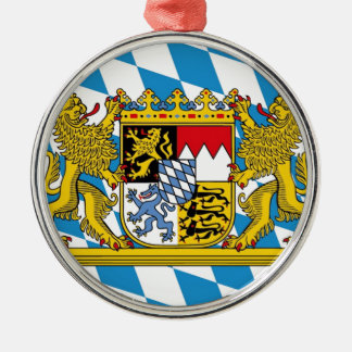 Flag OF Bavaria Silver-Colored Round Ornament