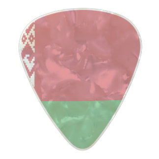 Flag of Belarus Guitar Picks Pearl Celluloid Guitar Pick