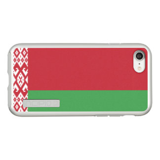 Flag of Belarus Silver iPhone Case