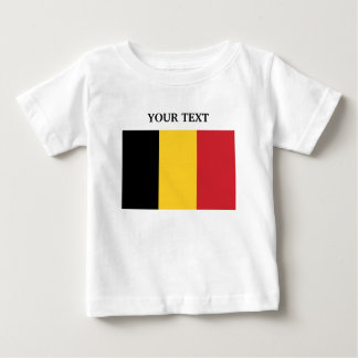 Flag of Belgium Baby T-Shirt