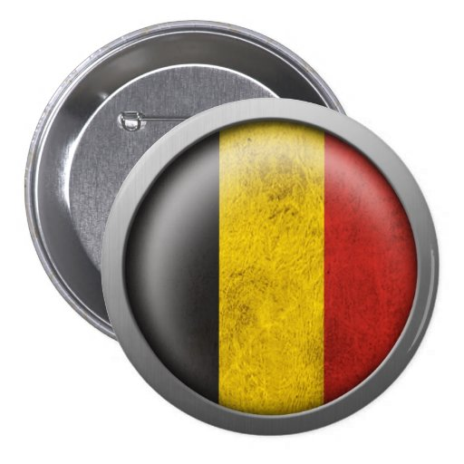 Flag of Belgium Disc Button