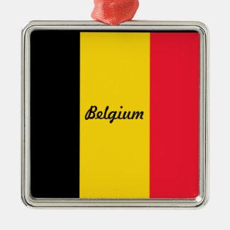 Flag of Belgium Metal Ornament