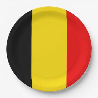 Flag of Belgium Paper Plate