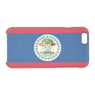 Flag of Belize Clear iPhone Case