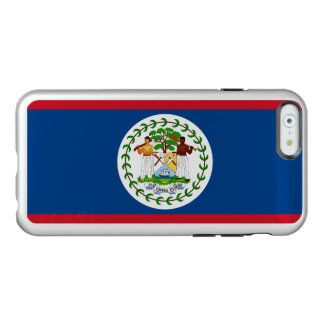 Flag of Belize Silver iPhone Case