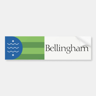 Flag of Bellingham, Washington bumper sticker