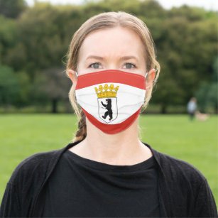 Flag of Berlin Cloth Face Mask