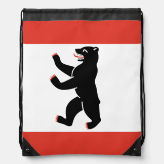 Flag of Berlin Drawstring Bag