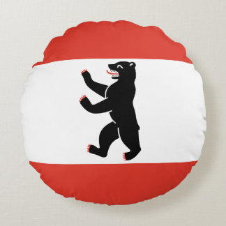 Flag of Berlin Round Pillow