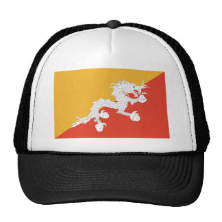 Flag of Bhutan Mesh Hats