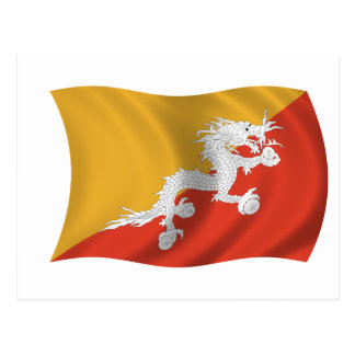 Flag of Bhutan Postcard