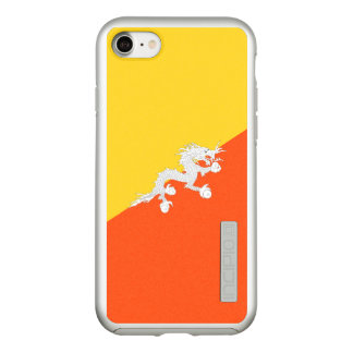 Flag of Bhutan Silver iPhone Case