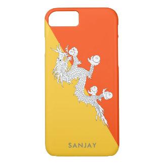 Flag of Bhutan with Custom Name iPhone 7 Case