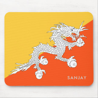 Flag of Bhutan with Your Name Mouse Pad