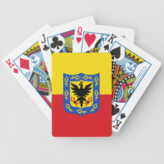 Flag of Bogota, Colombia Bicycle Playing Cards