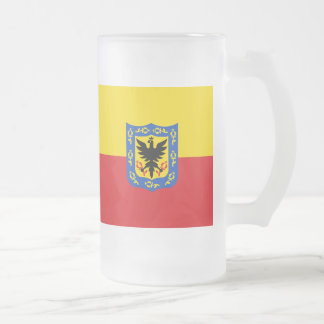 Flag of Bogota, Colombia Frosted Glass Beer Mug