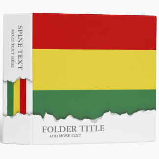 Flag of Bolivia Binders