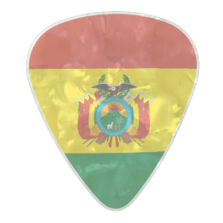 Flag of Bolivia Guitar Picks Pearl Celluloid Guitar Pick