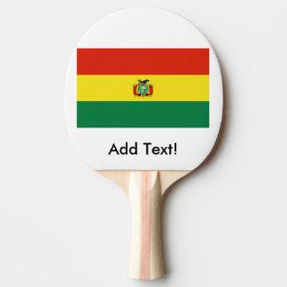 Flag of Bolivia Ping Pong Paddle