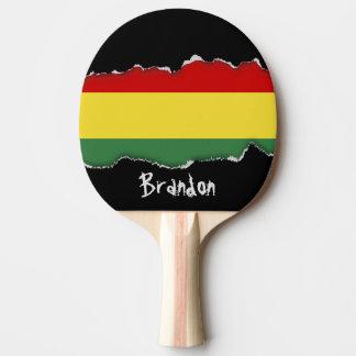 Flag of Bolivia Ping-Pong Paddle