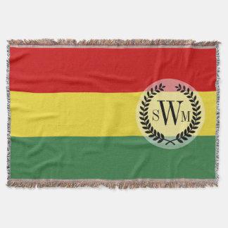 Flag of Bolivia Throw Blanket