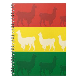Flag of Bolivia with Llamas Notebook