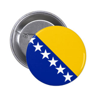 Flag of Bosnia and Herzegovina 2 Inch Round Button