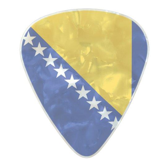 Flag of Bosnia and Herzegovina Guitar Picks Pearl Celluloid Guitar Pick