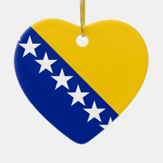 Flag of Bosnia Herzegovina Ceramic Ornament