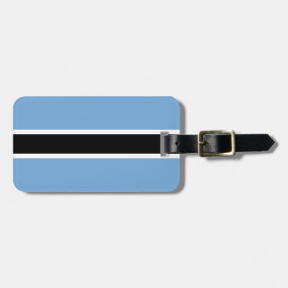 Flag of Botswana Luggage Tag w/ leather strap