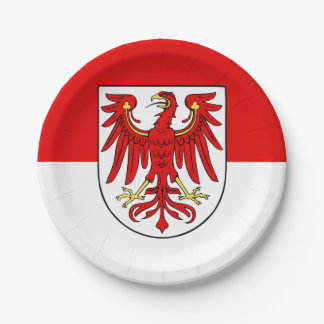 Flag of Brandenburg Paper Plate