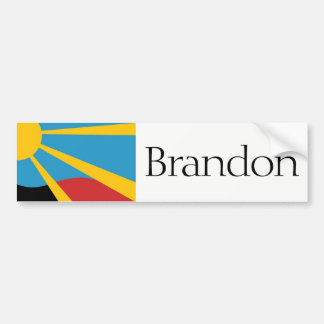 Flag of Brandon, South Dakota bumper sticker