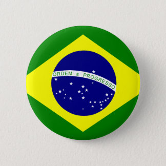 Flag of Brazil 2 Inch Round Button