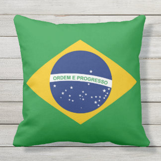 Flag of Brazil Bandeira do Brasil Outdoor Pillow