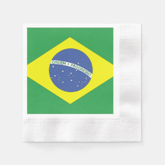 Flag of Brazil Disposable Napkins