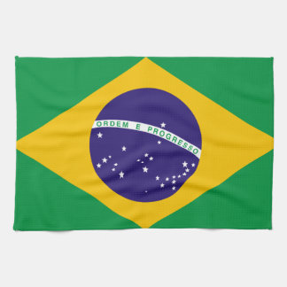 Flag of Brazil Hand Towel