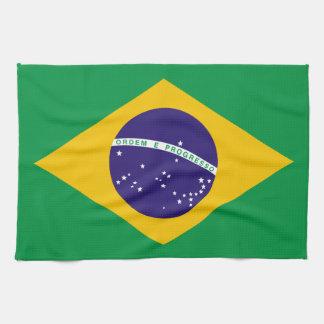 Flag of Brazil Hand Towels
